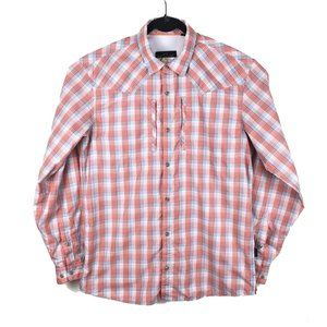 ORVIS Trout Bum Red Plaid Button Fishing Shirt M